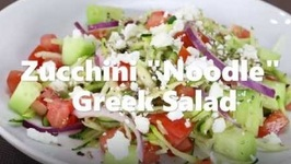 How To Make Zucchini Noodle Greek Salad