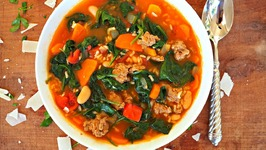 Healthy Soup Recipe- Spicy Turkey Sausage Soup