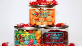 Sour Cherry Candy, Atomic Fireballs, and Orange and Creme Soft Chews - Kids Candy Review Club April