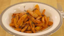 Maple Syrup Roasted Carrots