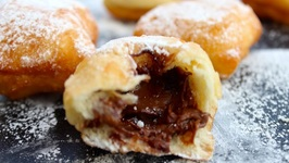 How To Make Nutella Stuffed Chocolate Beignets
