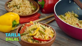 Jain Vegetable Fried Rice / How to Make Jain Chinese Rice Recipe