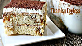 Eggless Tiramisu - Italian Dessert Without Eggs and Lady Fingers