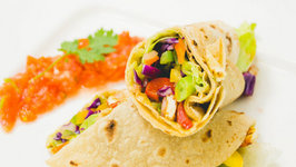 Vegetable Wrap Recipe - Using Leftover Rotis - Easy Healthy Kids Lunch Box Recipes
