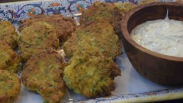 Fried Zucchini Fritters With Dipping Sauce