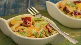 Fruit and Vegetable Salad with Low Calorie Thousand Island Dressing