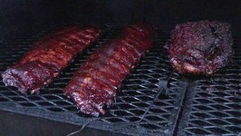 Baby Back Ribs and Texas Brisket on Offset Smoker