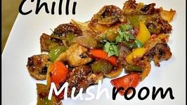 Chilli Mushroom -Indo Chinese