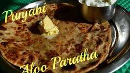 Aloo Paratha Punjabi -Traditional Food- Potato Stuffed Indian bread