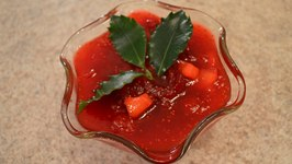 How to Make Mango Cranberry Sauce Christmas in July