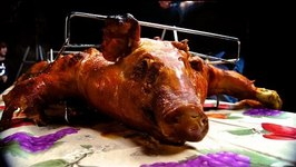 Cuban Lechn Asado- Pig Roast In The La Caja China