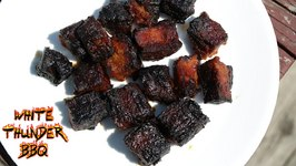 Pork Belly Burnt Ends On The GrillaQue