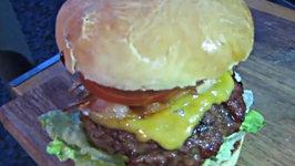 TGI Friday's Jack Daniels Burger Interpretation - English Grill and BBQ