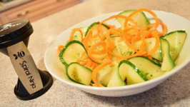 How to Make Ruffled Cucumber and Carrot Salad with White Vinegar