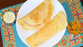 How to make Instant Rice Flour Dosa - Indian Rice and Lentil Crepes