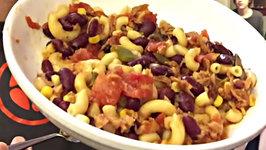 What My Plant Based Family Ate Monday Night-Chili Bean Macaroni