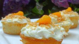 Tropical Mandarin Cupcakes