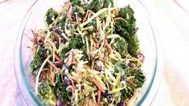 Fresh Kale And Broccoli Salad
