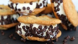 Homemade Chocolate Chip Ice Cream Sandwiches