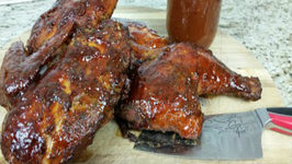 Smoked BBQ Chicken with a Simple to make BBQ sauce