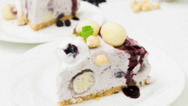 Blueberry n Rasgulla Cheesecake with Hazelnuts Recipe - Fusion Diwali