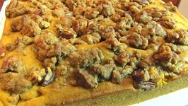 Pumpkin Coffee Cake With Buttery Pecan Streusel