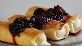 Blue Cheese Blintzes