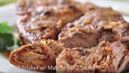 Brisket with Mango BBQ Sauce