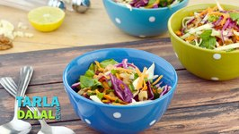 Garlicky Cabbage and Spinach Salad (Zero Oil Healthy Salad)