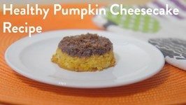 Vegan Low Sugar Pumpkin Cheesecake