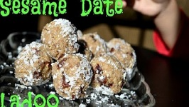 Oil free 3 ingredient Sesame Date Ladoo