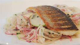 How To Make Seabass With Fennel And Apple Slaw