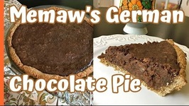 Baking / Memaw's German Chocolate Pie