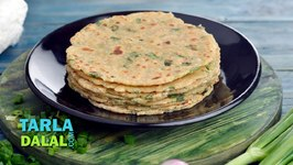 Paneer And Spring Onion Paratha, Recipe In Hindi