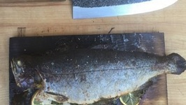 Cedar Planked Herb Stuffed Trout