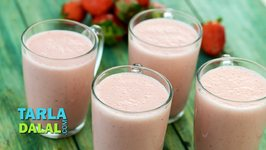 Strawberry Honey Milkshake (In Gujarati) / Healthy Breakfast Recipe