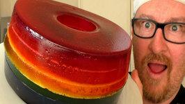 Giant Rainbow Gummy Donuts