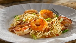 Asian Chili Shrimp with Sesame noodles