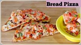 Bread Pizza - With And Without Oven  Tawa Bread Pizza  Pan Bread Pizza