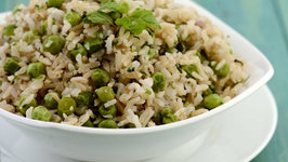 Green Peas and Mint Pulao (Low Cholesterol)