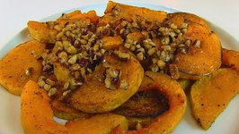 Betty's Roasted Butternut Squash with Hazelnut Topping, ATK Recipe -- Thanksgiving