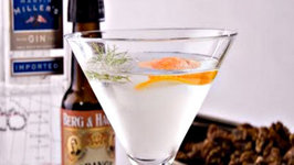 Classic Martini with Bitter Orange and Fennel Walnuts - Kathy Casey's Liquid Kitchen