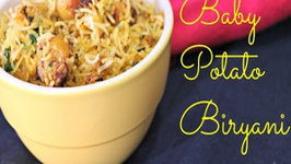 Baby Potato Biryani - Quick Style Biryani Recipe