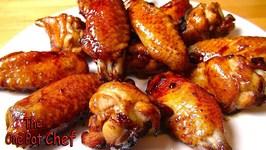 Honey Bourbon Chicken Wing Nibbles