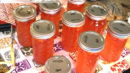 Canning Habanero Rhubarb Jelly With Linda's Pantry
