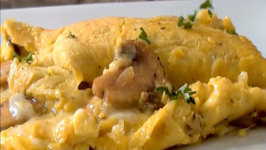 Springtime Omelette Recipe with Mushroom, Sherry, and Gruyere Cheese