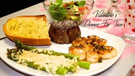 Valentines Dinner For Two -Filet Mignon And Sea Scallops