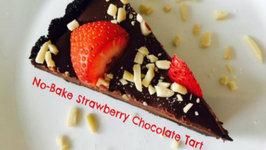 No Bake Strawberry Chocolate Tart