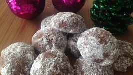 Chocolate Snowball Cookies Holiday