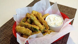 Zucchini Fries with Basil Remoulade